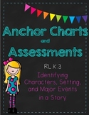 Setting, Characters and Major Events Anchor Charts and Ass