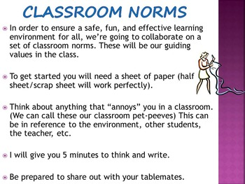 Setting Class Norms Expectations and Rules for Junior High and High School