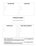 Setting Description: A graphic organizer for writing about setting