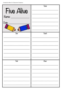 Setting Description Cards and Worksheets