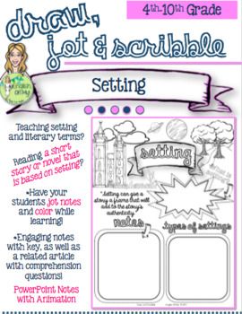 Setting Draw Jot Scribble Coloring Notes By English Oh My Tpt