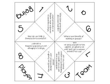 Setting Expectations with Cootie Catchers