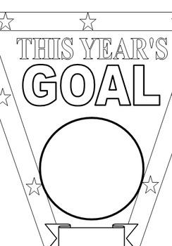 Setting Goal Pennant