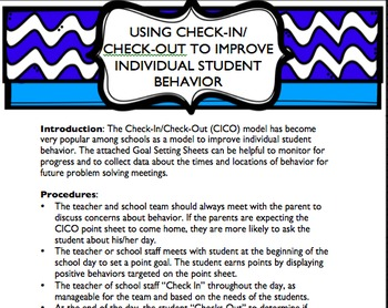 Setting Goals for Student Behavior - Collection
