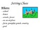 Setting Graphic Organizer, Bookmark Resource, Poster, Where, When, Weather