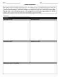 Setting Graphic Organizer Worksheet