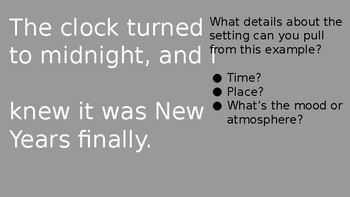 Setting: Identifying Time, Place, and Mood