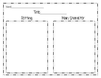 Setting & Main Character Graphic Organizer