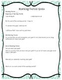 Setting Marking Period Goals