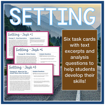 Setting Mini-Lesson with Task Cards (Aligned to AP Literature 2019 CED)