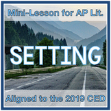 Setting Mini-Lesson with Task Cards (Aligned to AP Literat
