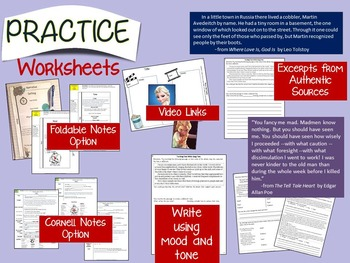 SETTING, MOOD, TONE: TEACH, PRACTICE, TEST