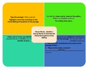 Setting, Mood, and Diction Activity Freebie