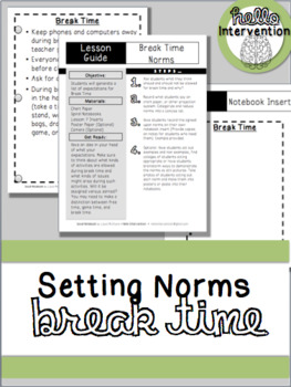 Setting Norms: Break Time