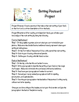 Setting Postcard Project (Assessing a Literacy Element)