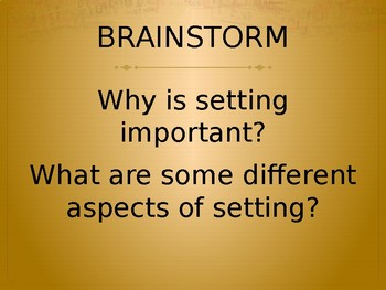 Setting Powerpoint with in-class exercises, examples, and a writing prompt
