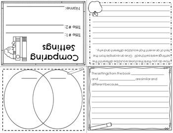 Setting Practice Reader's Response Mini-Books