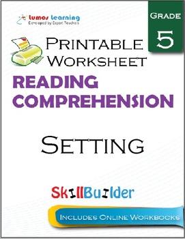 Setting Printable Worksheet, Grade 5