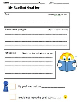 Setting Reading Goals - Student Sheet
