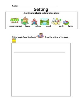 Setting Reading Response Sheet