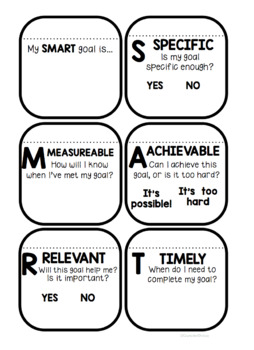 Setting SMART Goals Lesson and Booklet Freebie!