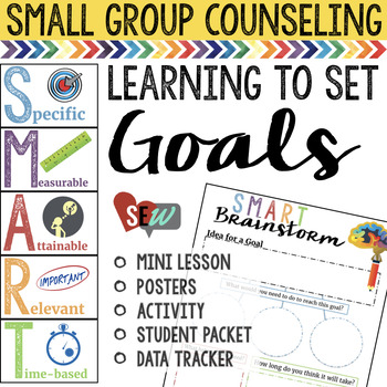 Setting Goals: Lesson, Posters, Activity, Goal Sheets, Data Tracker