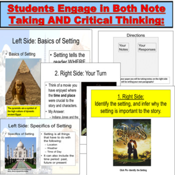 Setting and Story: Lesson and Activities PowerPoint