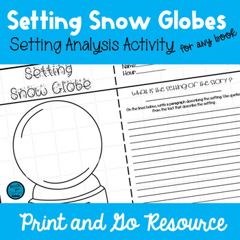 Winter Activity - Setting Snow Globes