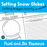 Winter Activity - Setting Snow Globes