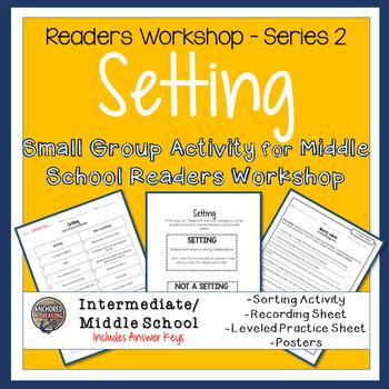 Setting Sort, Worksheets, and Poster - Center or Readers Workshop