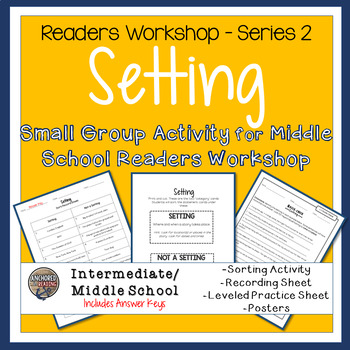 Setting Sort, Worksheets, and Poster - Center or Readers Workshop