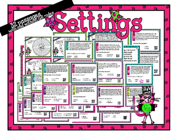 Infer the Setting - 32 task cards for scoot or review with