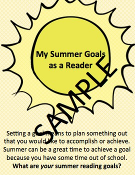 Setting Summer Reading Goals