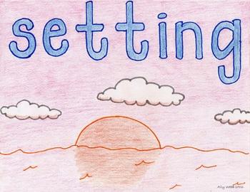 Setting Sun Cartoon--Printable Montessori Homonym Cards