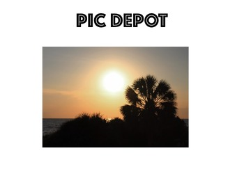 Stock Photo Nature Setting Sun