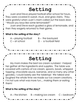 Setting Task Cards