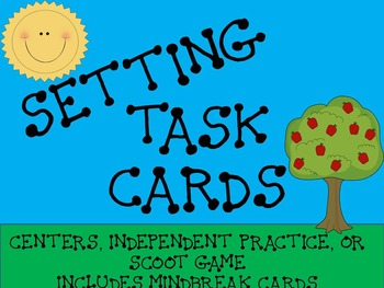 Setting Task Cards- 24 Multiple Choice Cards- Center or Scoot Game