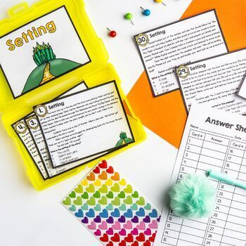 Setting Task Cards 2nd & 3rd Grade