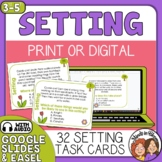 Setting Task Cards for making inferences Print or Easel Activity