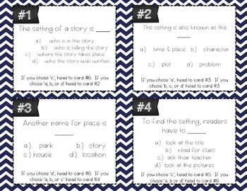 Setting Task Cards (Differentiated)