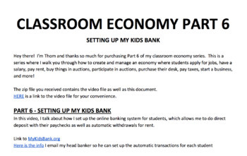 Setting Up An Online Bank - How To Set Up A Class Economy Pt 6