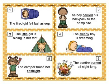 Setting Up Camp - Parts of Speech