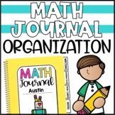 Math Journal Covers, Tabs & Bookmarks