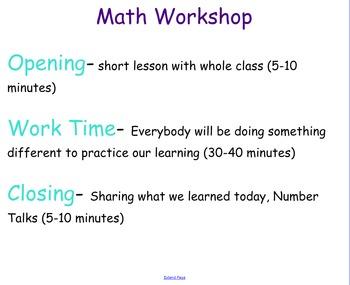Setting Up Math Workshop- SMARTboard Notebook
