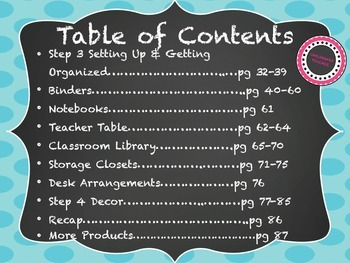 Setting Up & Organizing Your Classroom