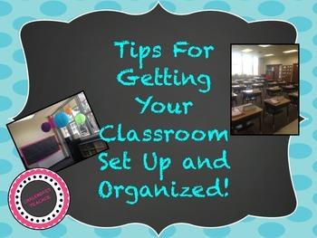 Setting Up & Organizing Your Classroom