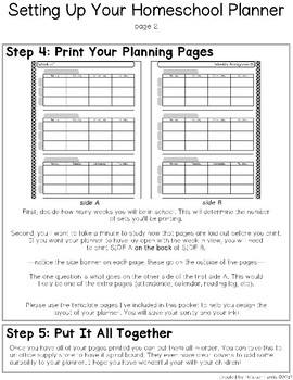 Setting Up Your Homeschool Planner {FREE GUIDE}