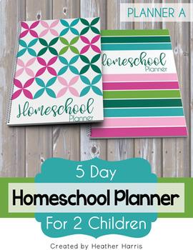 Homeschool Planner {2 kids} 2017-2018
