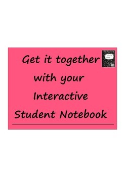 Setting Up Your Interactive Student Notebook