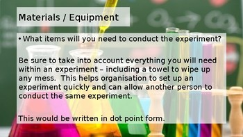 Setting Up an Experiment